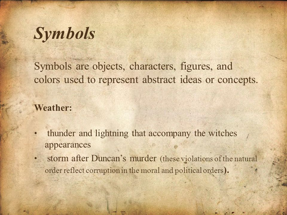 Shakespeare s use weather symbolic event macbeth