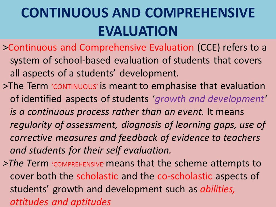 continous and comprehensive evaluation Continuous and comprehensive evaluation science teachers' manual standard – ix prepared by state council of educational research and training.