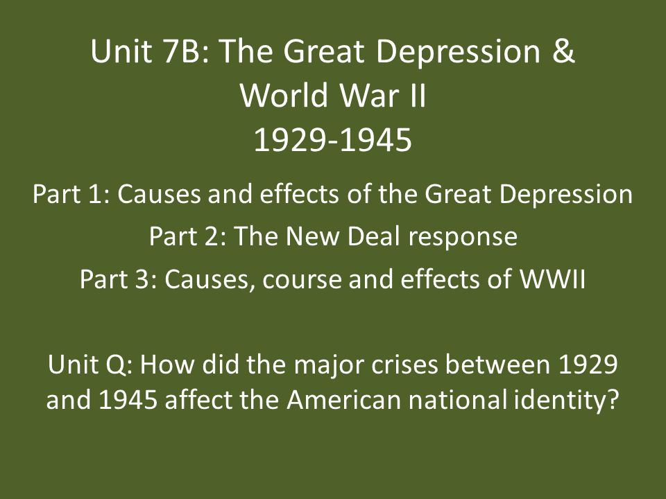 world war i and great depression History: the great depression and world war ii farming was one of the hardest hit segments of the new mexico economy during the great depression in 1931, the state's most important crops were only worth about half of their 1929 value.