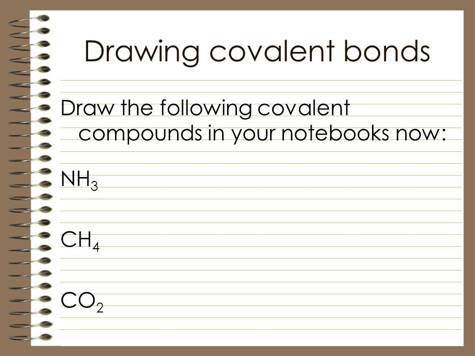 how to draw covalent bonds