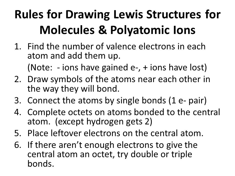 Line Drawing Rules Chemistry : Chapter chemical bonding ppt download