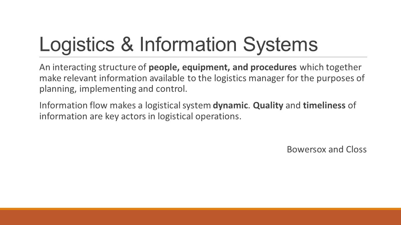 logistics information systems 2017-12-28 total us logistics costs 1984 to 2007  supply contracts / collaboration / information systems and dss  introduction to supply chain management.