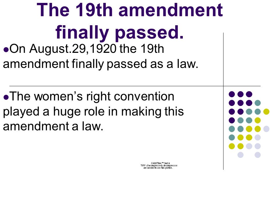 19th Amendment Byshaquania Bellamy Ppt Download
