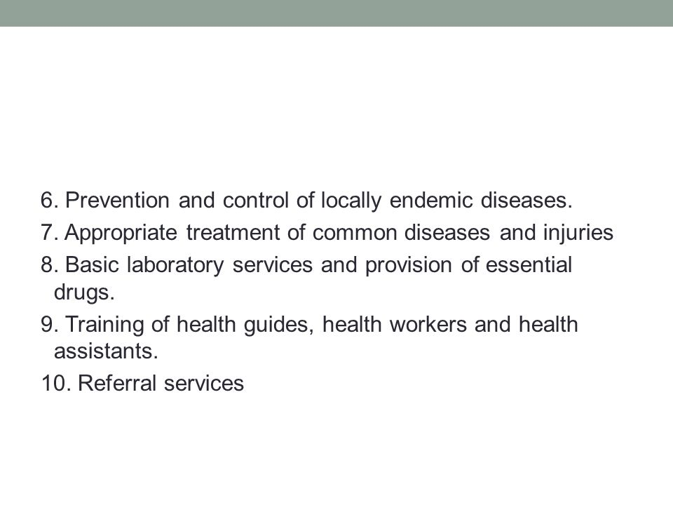 prevention and control of locally endemic diseases Infection prevention implications of managing haitian 2010 earthquake centers for disease control and prevention to endemic infectious diseases.