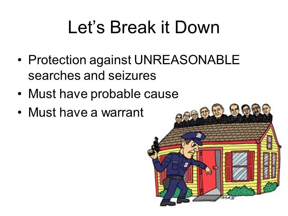 Let's Break It Down Protection Against UNREASONABLE