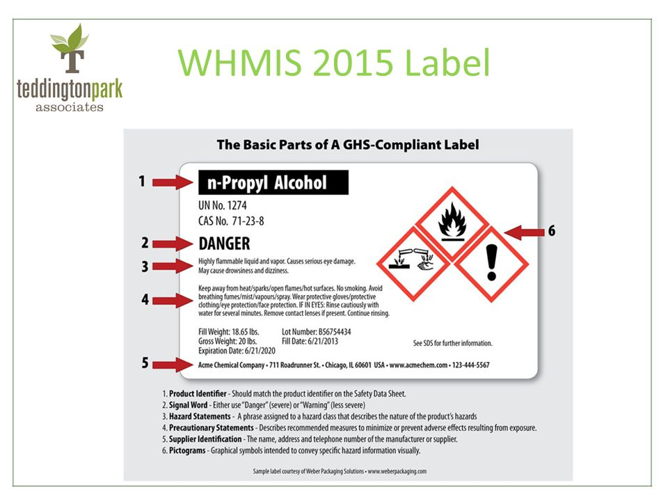 Printable msds labels for Whmis labels template
