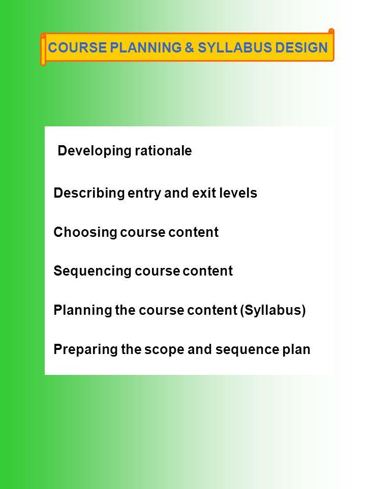 Course Planning Syllabus Design Ppt Video Online Download