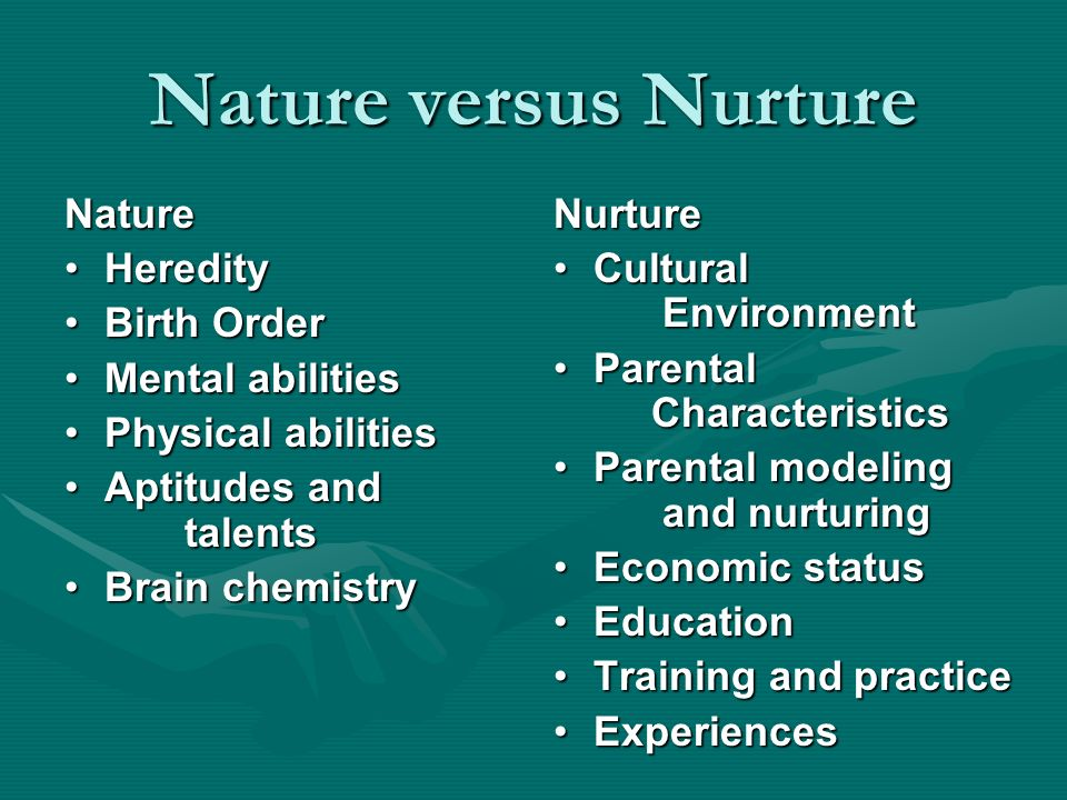 nature vs nurture 14 essay End of story, right nope the nature vs nurture debate still rages on, as scientist fight over how much of who we are is shaped by.