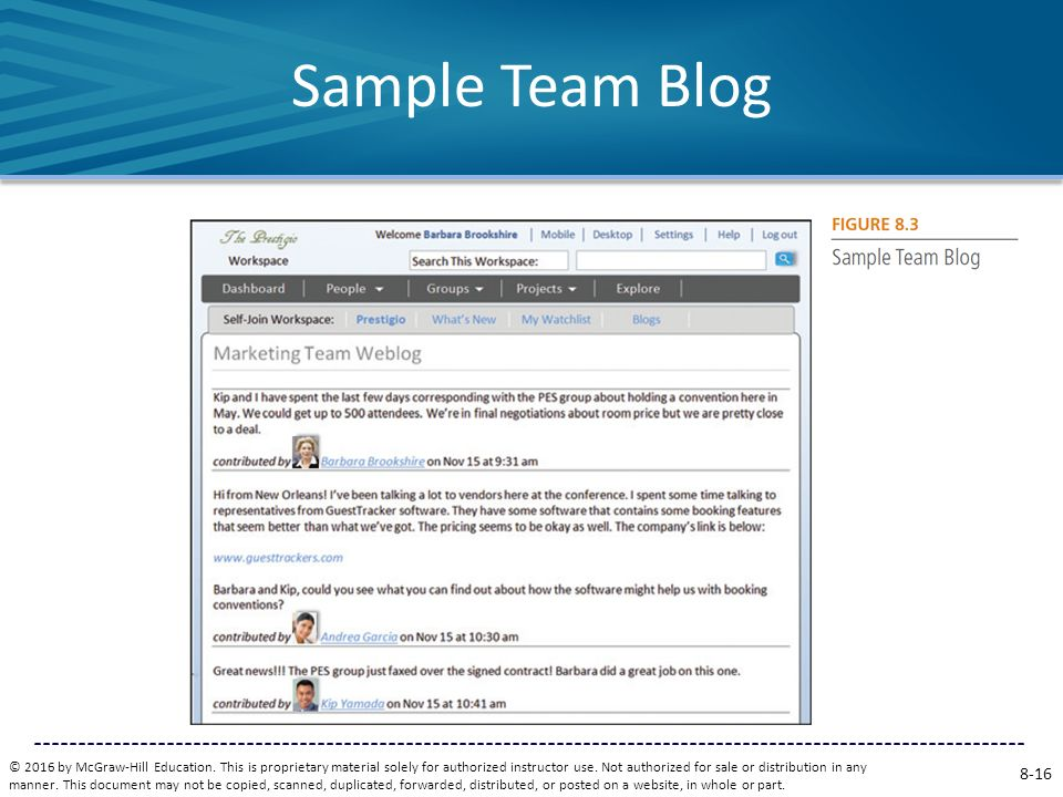 Sample Team Blog