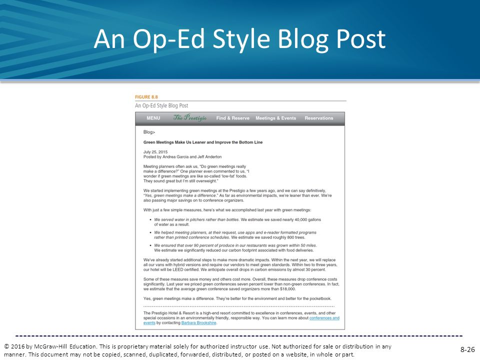An Op-Ed Style Blog Post