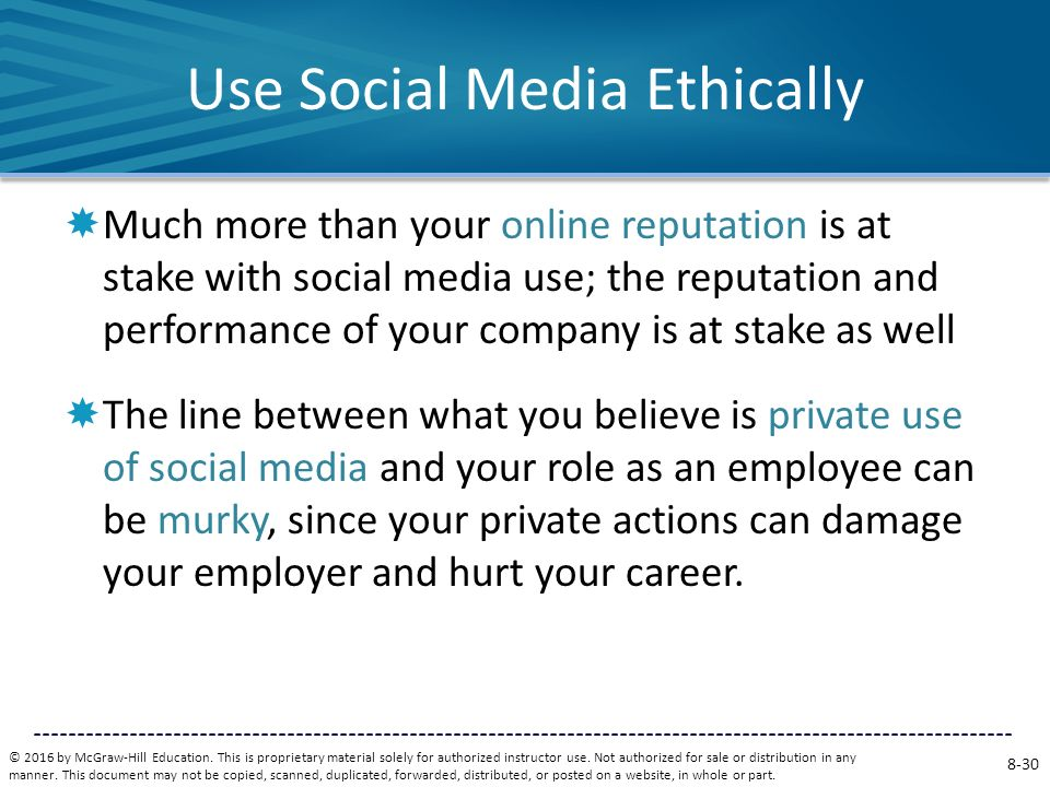 Use Social Media Ethically