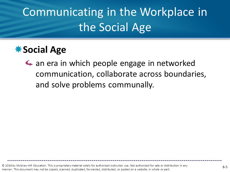 Communicating in the Workplace in the Social Age