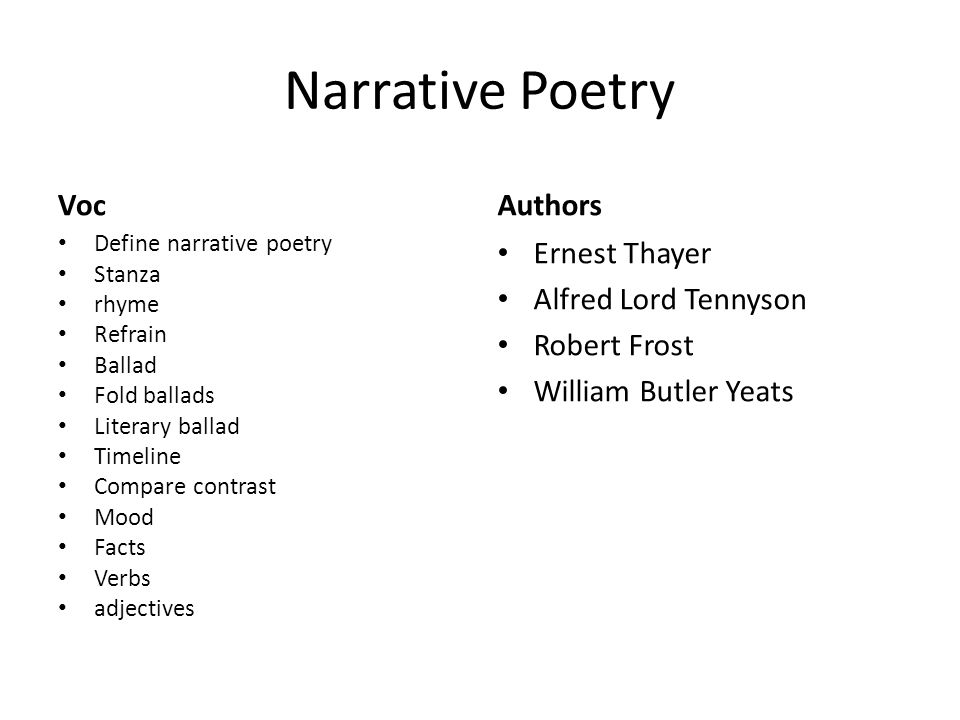 comparing narrative poems to lyric poems A narrative poem tells a story using plot,character,setting,and theme howerver,a narrative poem tells a story more musically than prose fiction doesit uses sounds and rhythms to make the story.