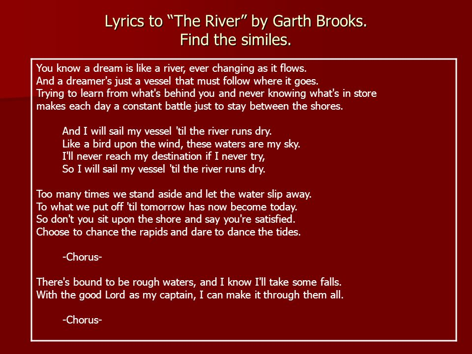 Lyric i choose the lord lyrics : Similes Based on a presentation from www. mce. k12tn. net ...