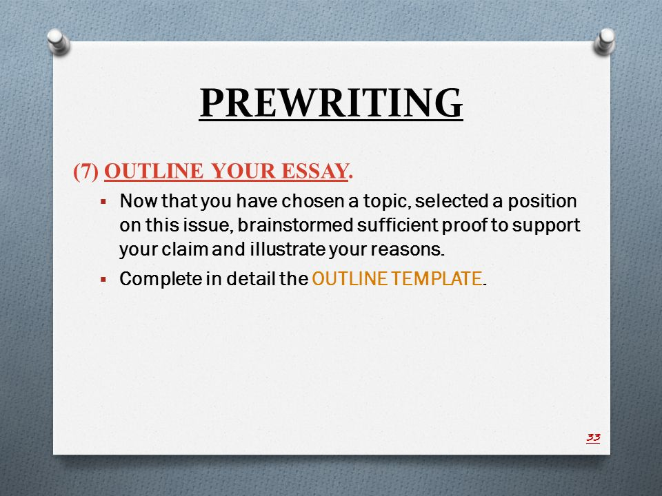 Illustration example essay ppt video online download for Prewriting outline template