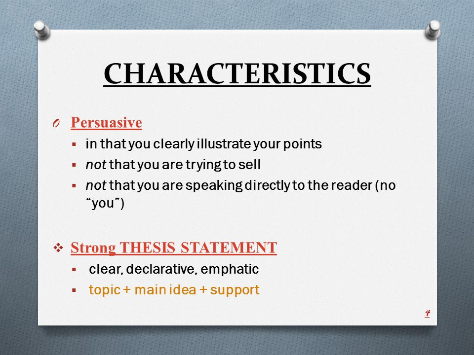 Characteristics Of Writing Thesis