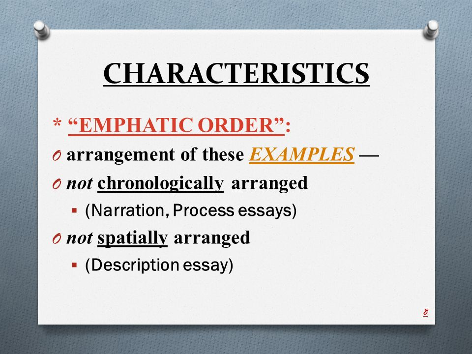 illustration example essay ppt video online  characteristics emphatic order arrangement of these examples