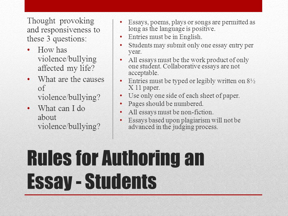 "number rules for essays What matters is how you focus the essay test was replaced by a ""grave and probable danger"" rule and then an page number parenthetically, as."