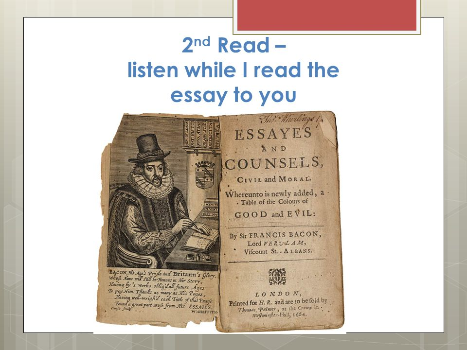 francis bacon essayes Get this from a library the essayes or counsels, civill and morall [francis bacon michael kiernan.