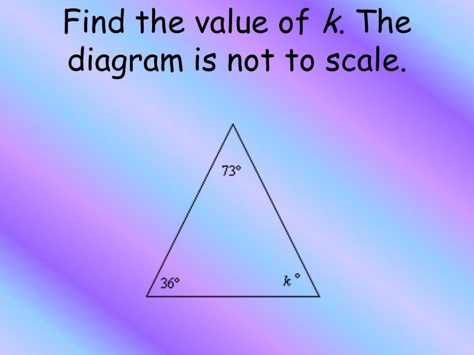 Classify the triangle by its sides. The diagram is not to scale ...