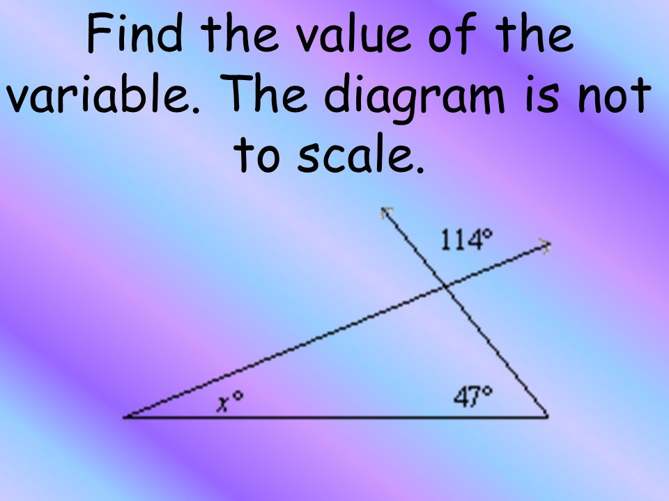 find the values of x y and z. the diagram is not to scale | Diarra