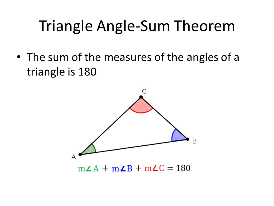 3 4 parallel lines and the triangle angle sum theorem - Triangle exterior angle theorem proof ...