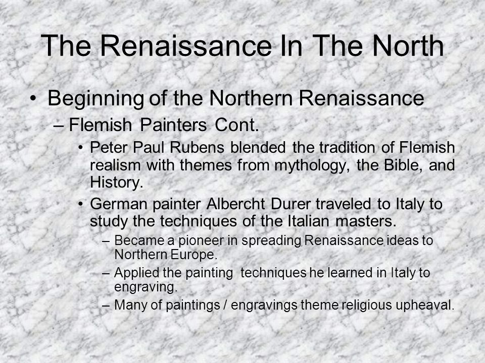 differences between northern renaissance art and How is italian renaissance art different from northern renaissance italian renaissance: realistic, portrays things the way that they look, had perspective northern.