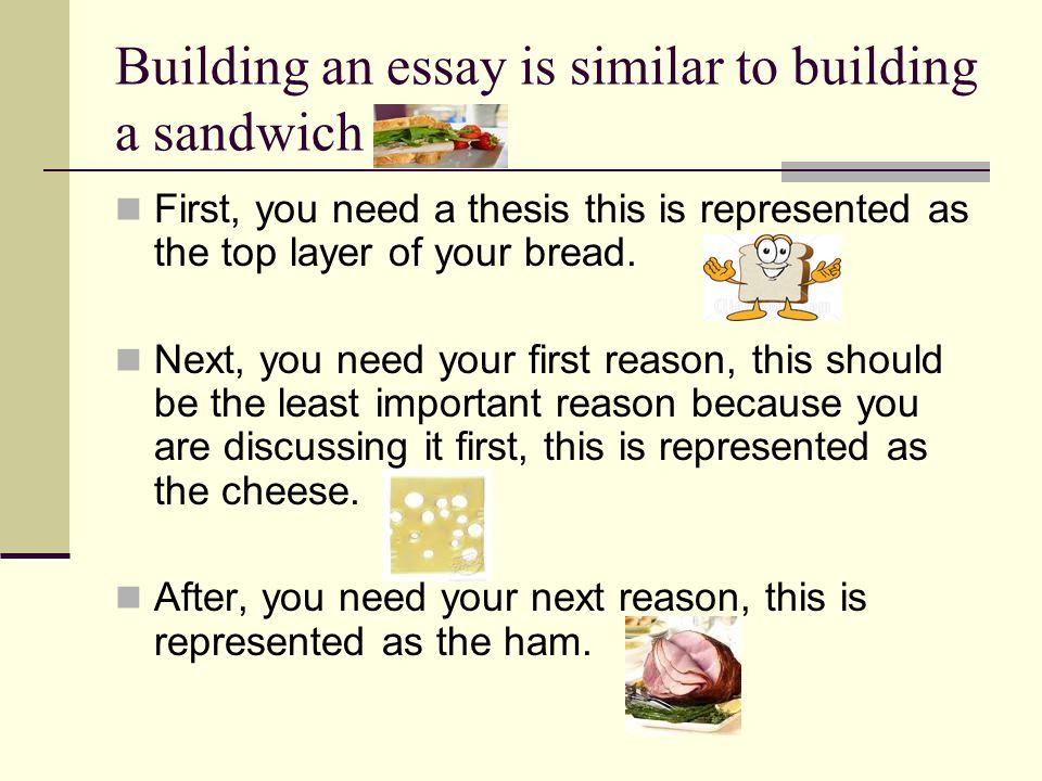 sandwich essay writing