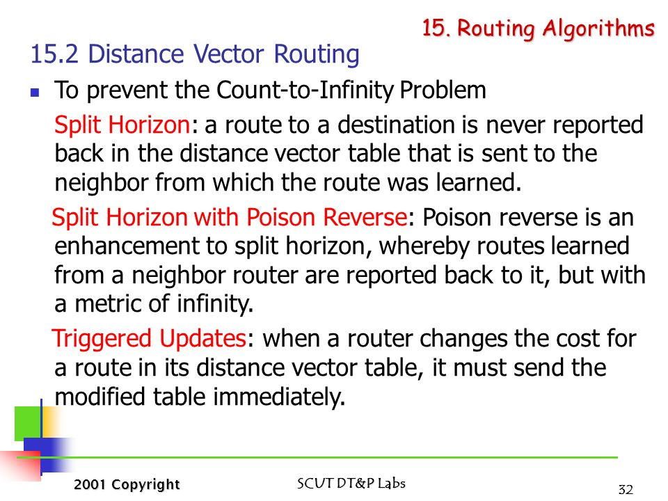 distance vector routing and link state routing pdf