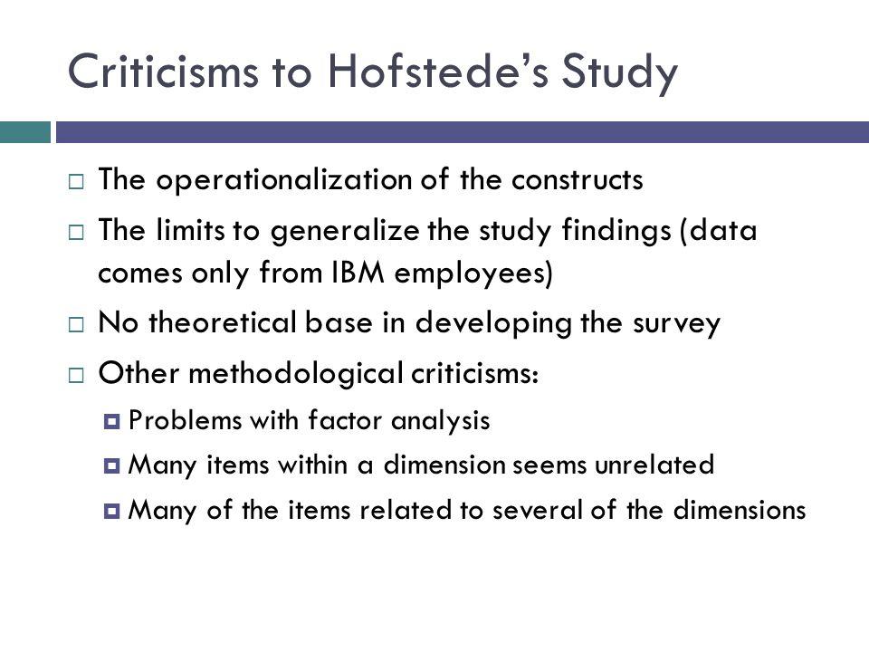 Hofstede study criticism