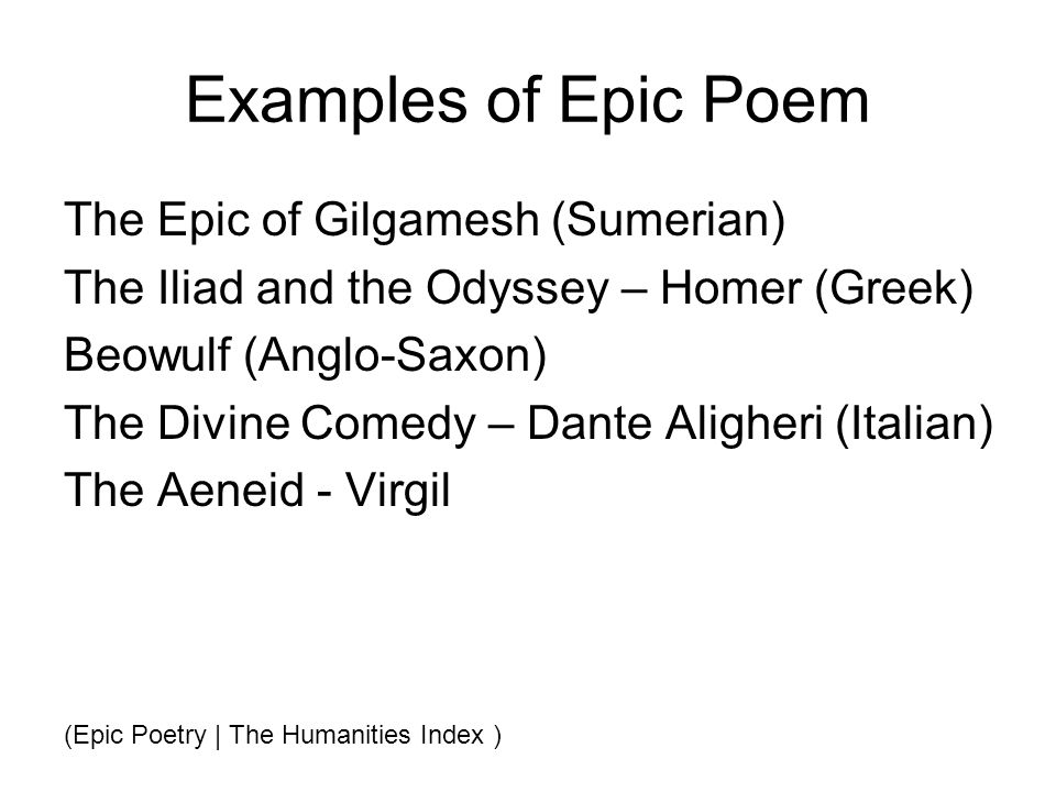 epic poem examples - photo #10