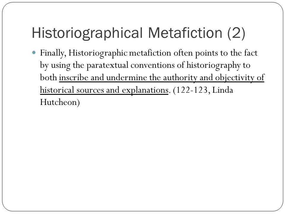 historiographic metafiction in Florida international university miami, florida historiographic metafiction and the neo-slave narrative: pastiche and polyphony in caryl phillips, toni morrison.