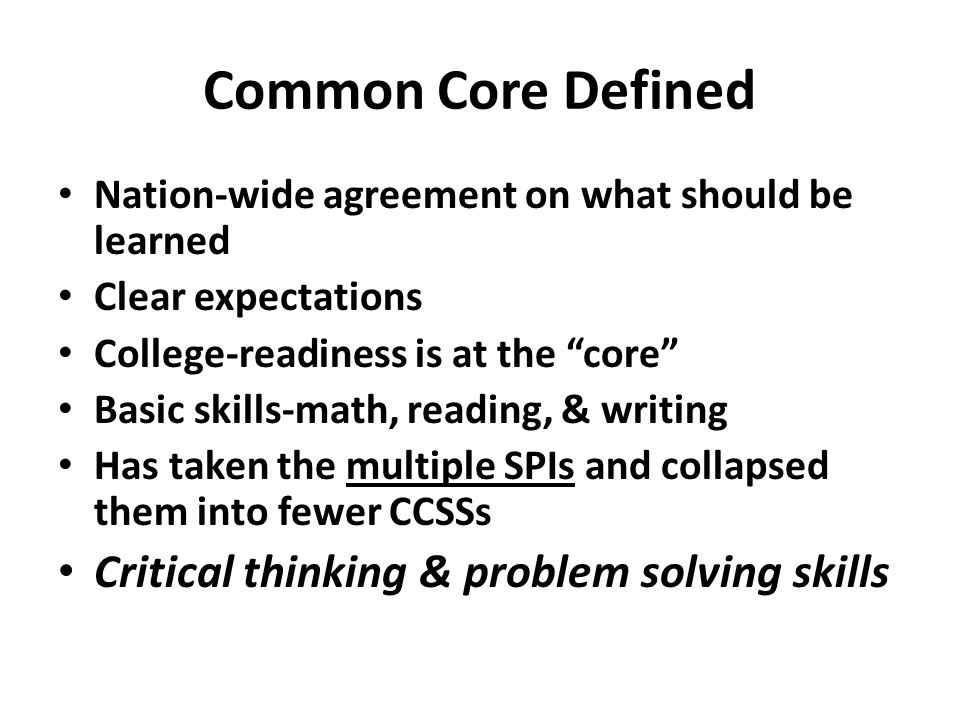 common core and physical education