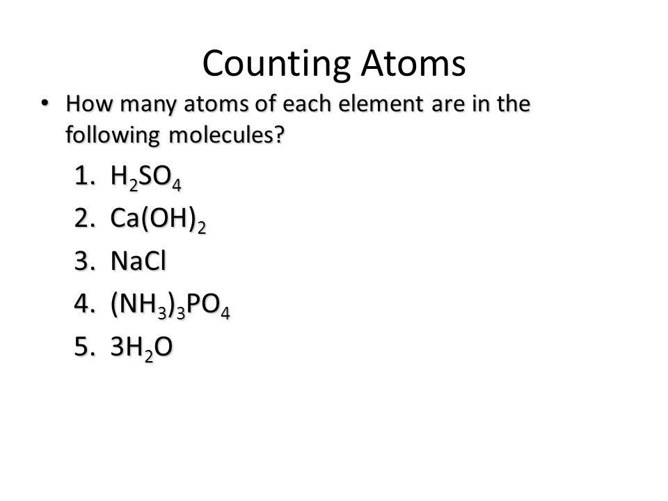 Balancing Chemical Equations ppt video online download – Counting Atoms Worksheet