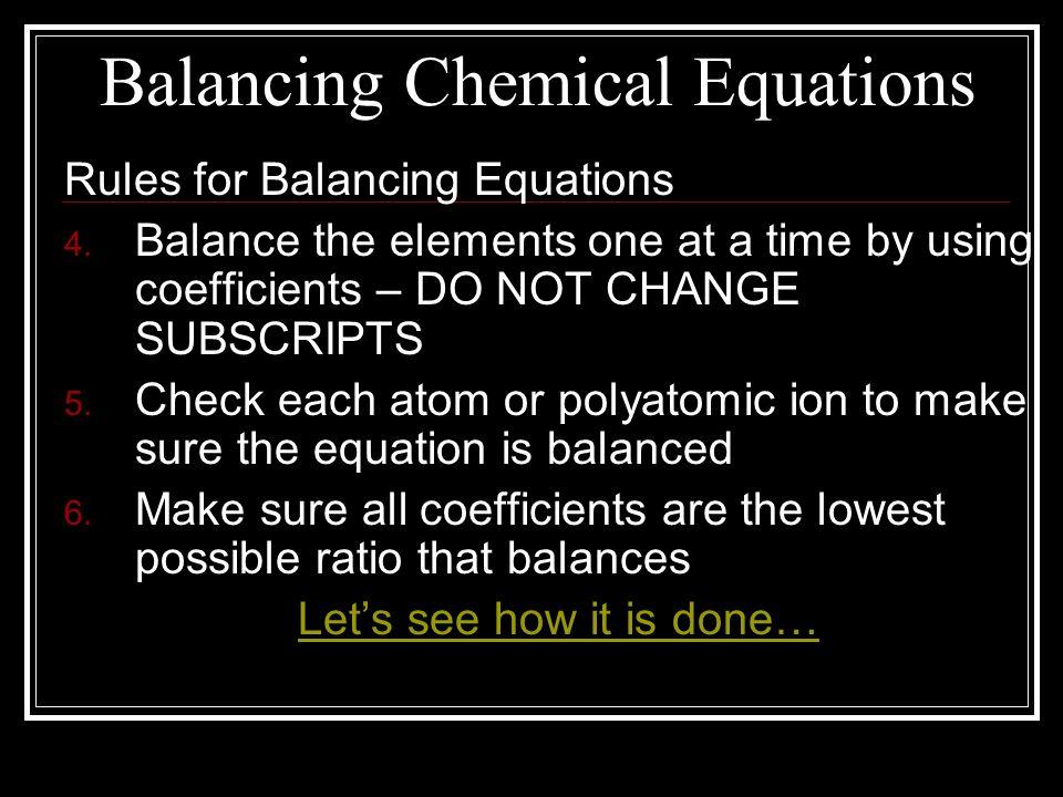 Homework help for balancing chemical equations