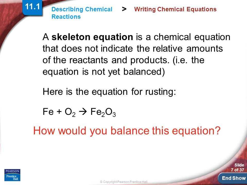 Worksheets Writing Skeleton Equations Worksheet With Answers chapter 11 chemical reactions ppt download 7 writing equations