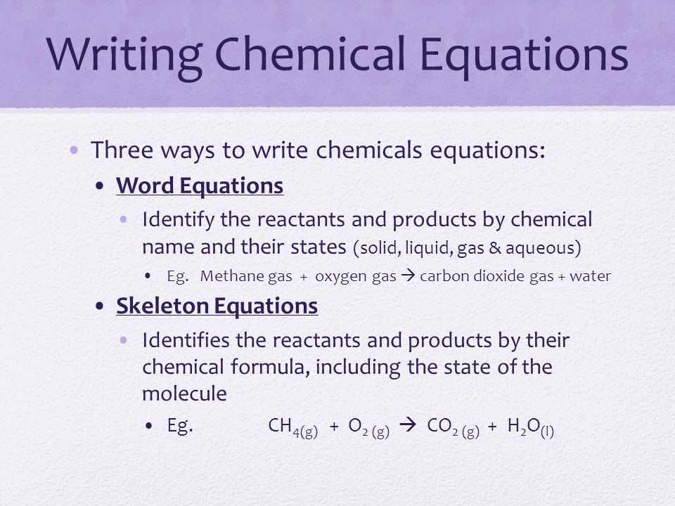 Writing Skeleton Equations From Word