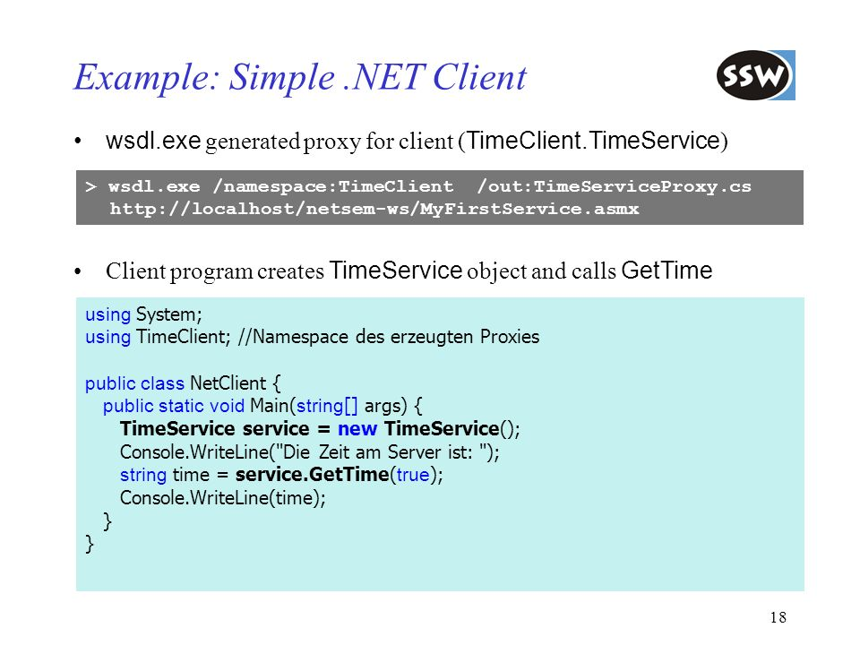 Example: Simple .NET Client