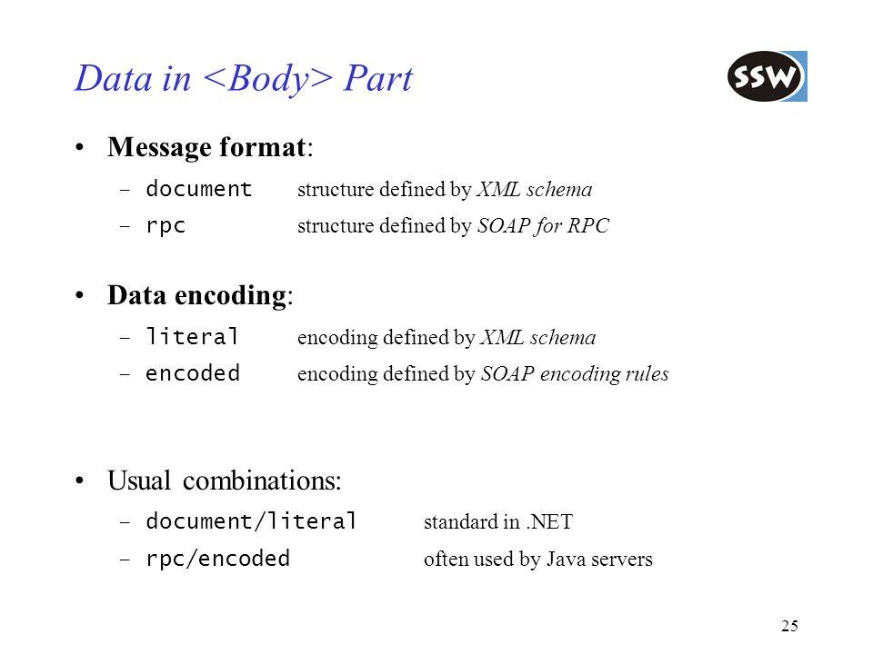 Data in <Body> Part