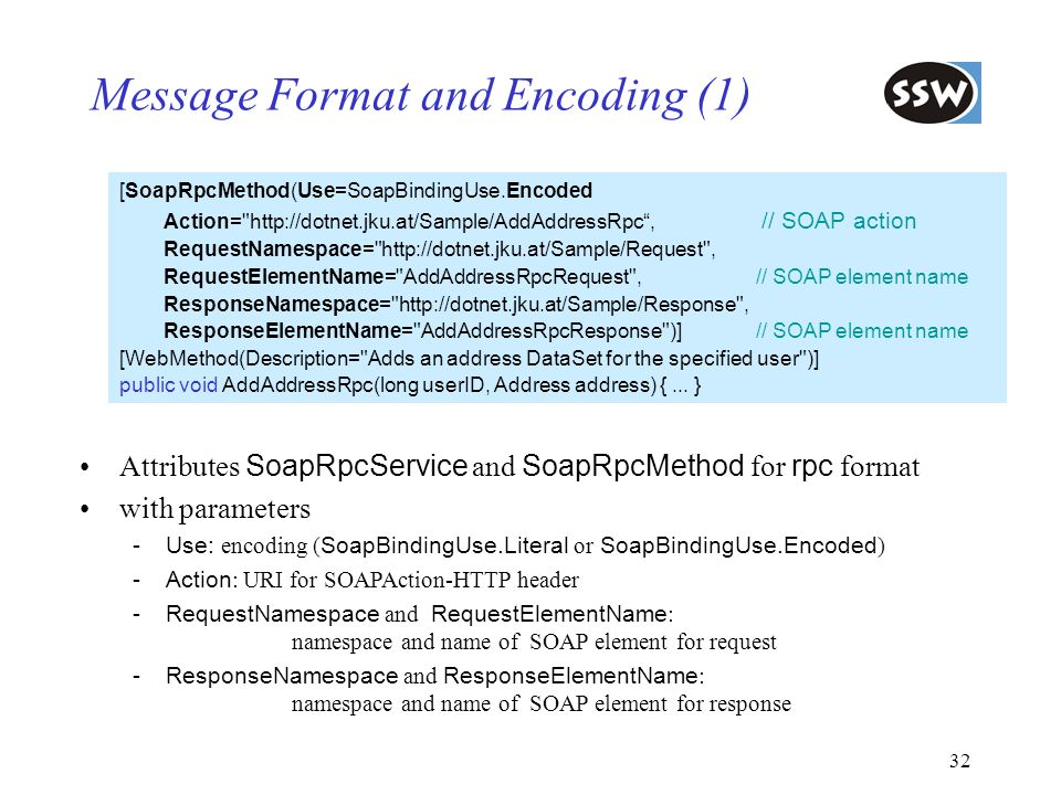Message Format and Encoding (1)
