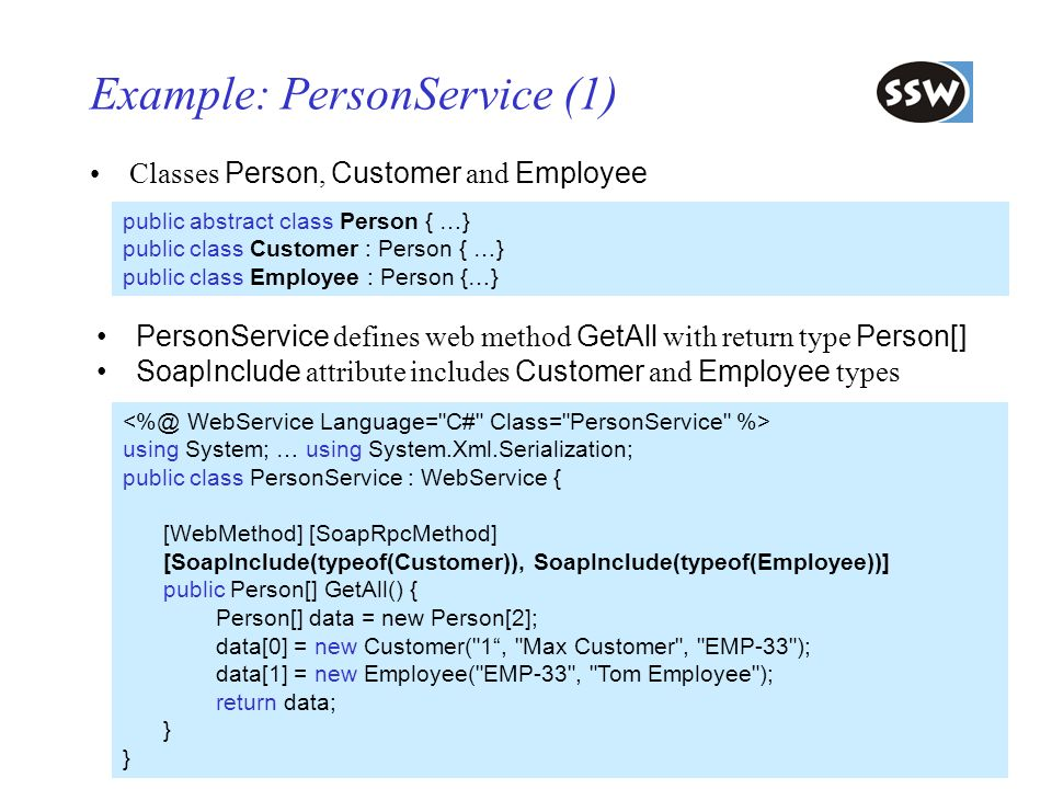 Example: PersonService (1)