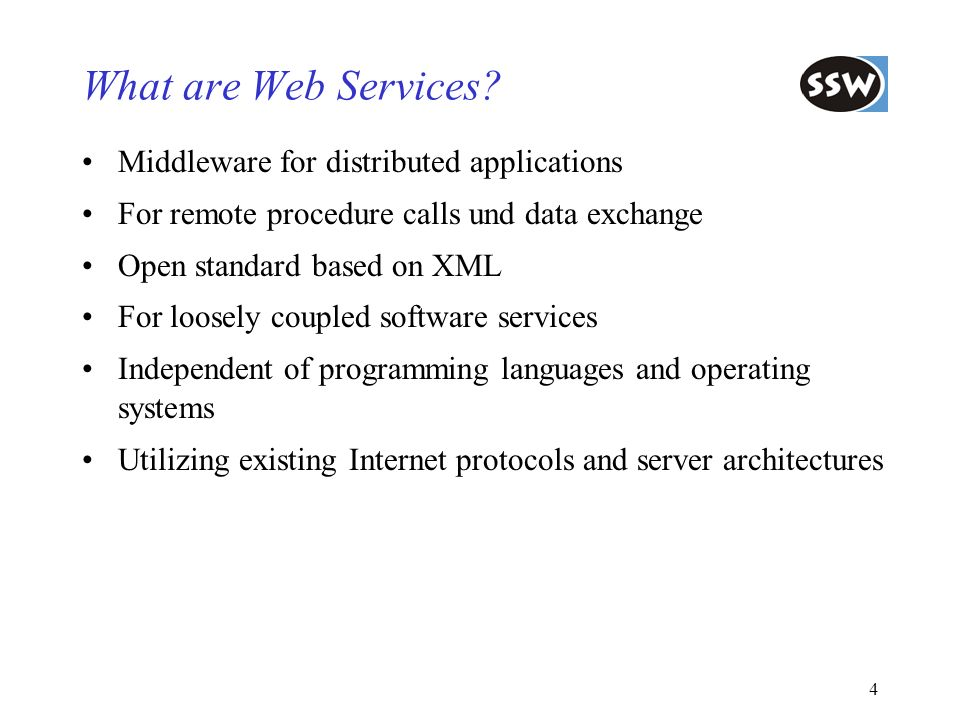 What are Web Services Middleware for distributed applications