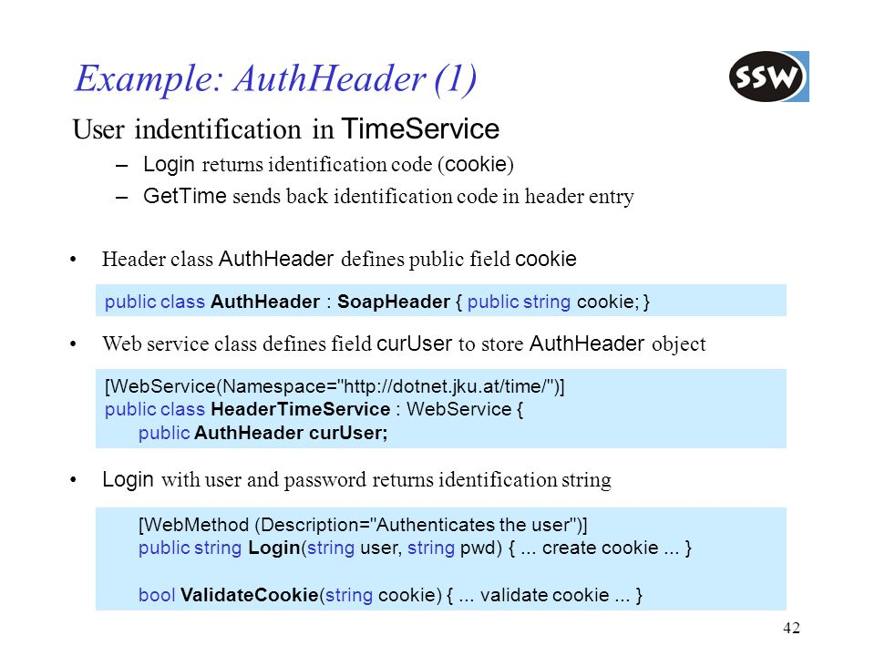 Example: AuthHeader (1)