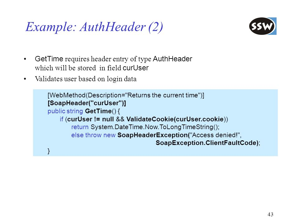 Example: AuthHeader (2)