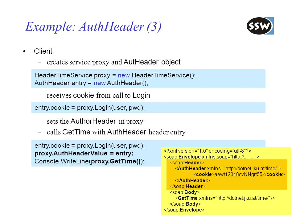 Example: AuthHeader (3)
