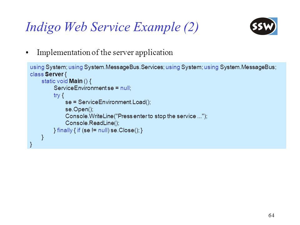Indigo Web Service Example (2)