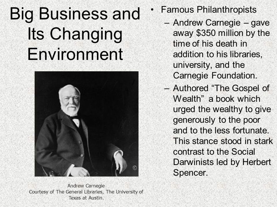 andrew carnegie corporate social responsibility Corporate social responsibility (csr) is, at least in its naming and formal recognition, a  and andrew carnegie was  carnegie also provided the funds to begin tiaa, which became the major vehicle for faculty pension support in the united states.