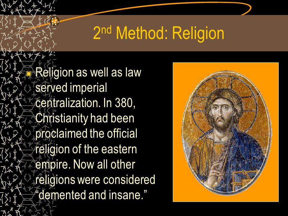 2nd Method: Religion