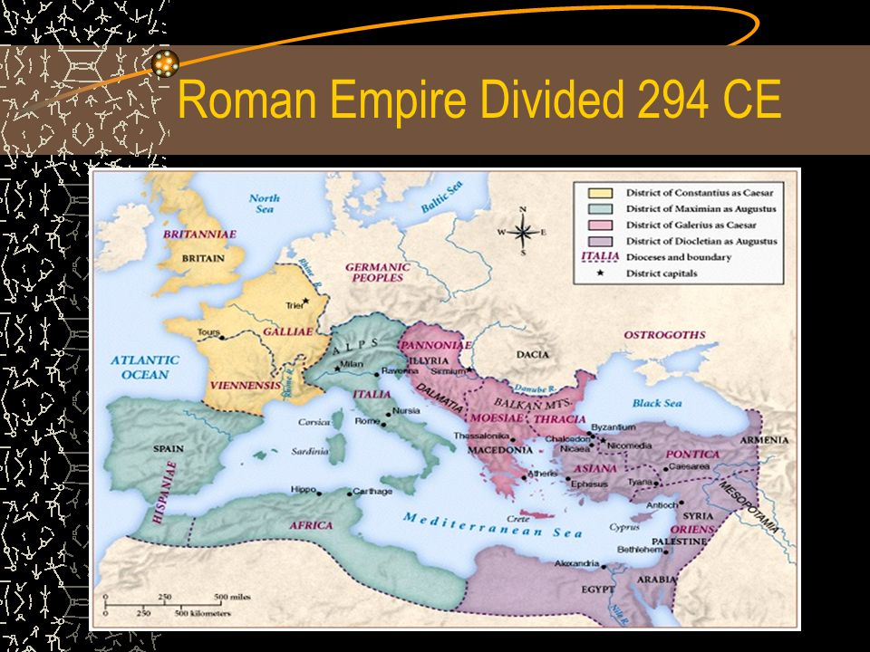 Roman Empire Divided 294 CE