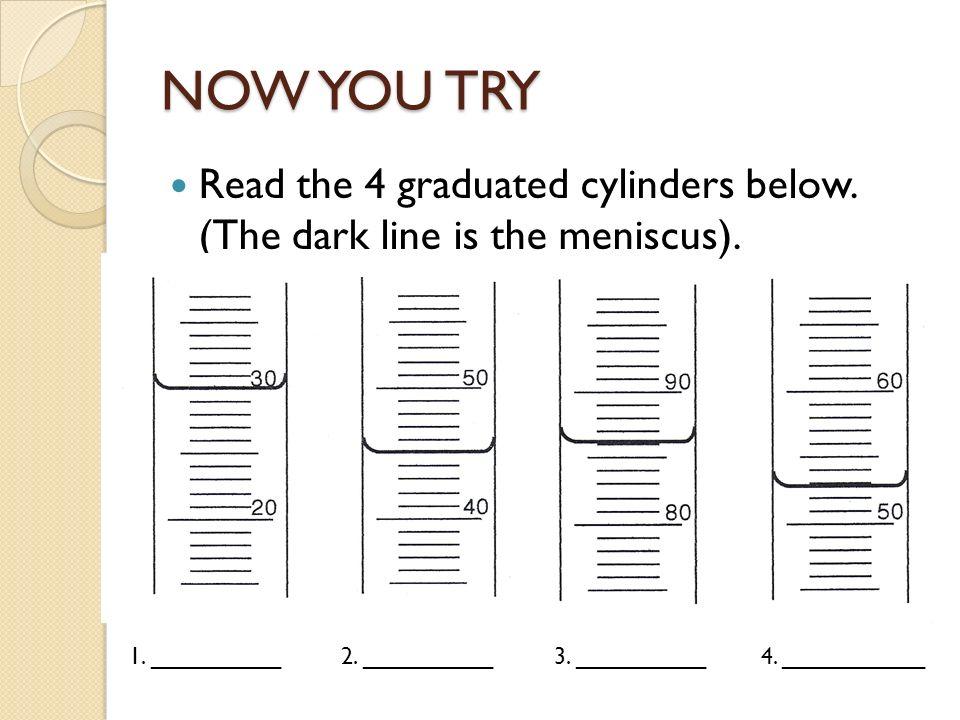 Reading measuring cylinder worksheet